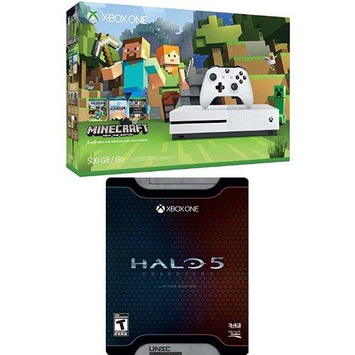 精选4款 Xbox One S 500GB/1TB 家庭娱乐游戏机套装 329.99元起限时特卖并包邮!额外再送《光环5:守护者》!