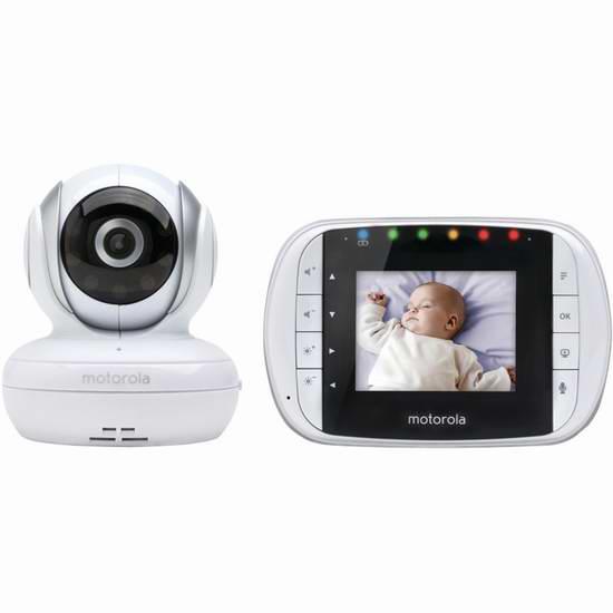 历史最低价!Motorola 摩托罗拉 MBP33S 无线婴儿视频监护器5折 99.99加元限时特卖并包邮!