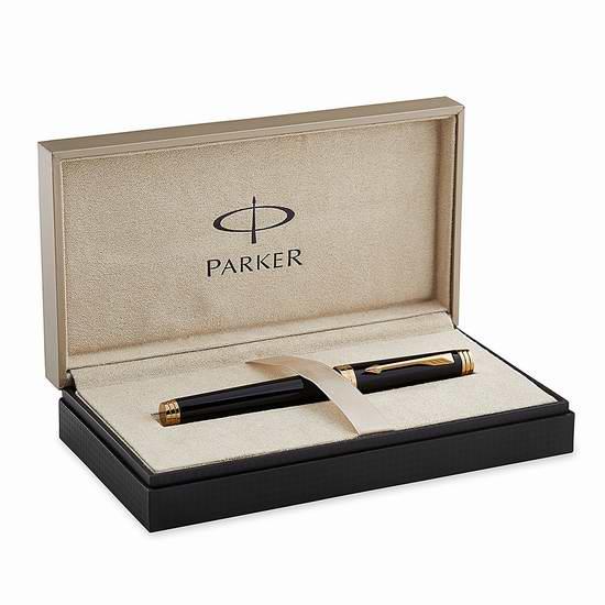 速抢!两款 Parker 派克 Premier 首席系列 高端纯黑丽雅宝珠笔/签字笔1.9折 58.27-75.21元限时清仓并包邮!