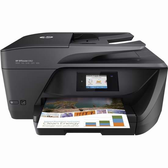 历史新低!HP 惠普 OfficeJet 6962 多功能一体无线彩色喷墨打印机3.3折 49.99加元包邮!