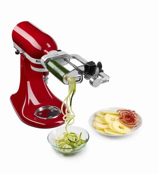 历史新低!KitchenAid KSM1APC 果蔬削皮切丝切片 厨师机配套附件 68.02元限量特卖并包邮!