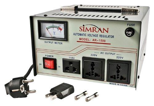 Simran AR-1500 1500瓦全自动稳压器/(110-220v)变压器5.6折 55.15元限量特卖并包邮!
