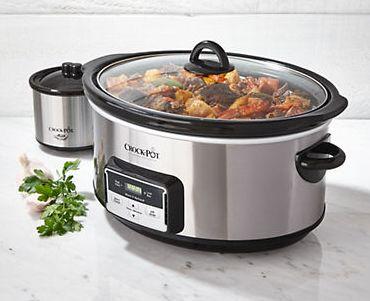 Crock-Pot 8夸脱数字计时不锈钢慢炖锅 + 16盎司食物加热锅3.9折 46.74加元限时特卖!