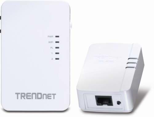 TRENDnet Powerline 500 AV TPL-410APK 电力线适配器/电力猫/无线信号扩展器两件套5.7折 59.79元限量特卖并包邮!