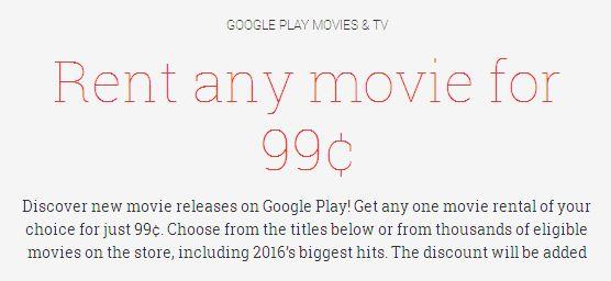 Google Play圣诞活动,精选60部最经典及热门电影,租借费仅需0.99元!