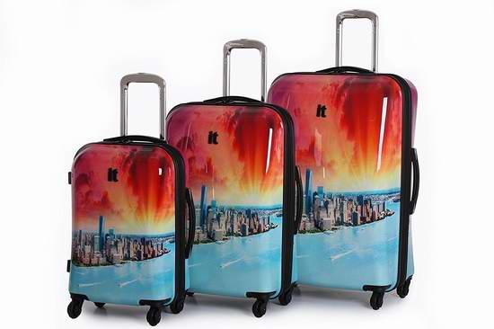 售价大降!立省新低!IT Luggage Samara Sunrise 全PC超轻拉杆行李箱3件套3折 118.93元限时清仓并包邮!