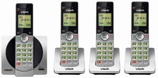 历史最低价!VTech 伟易达 DECT 6.0 CS6919-4 一拖三无绳电话 59.99加元包邮!