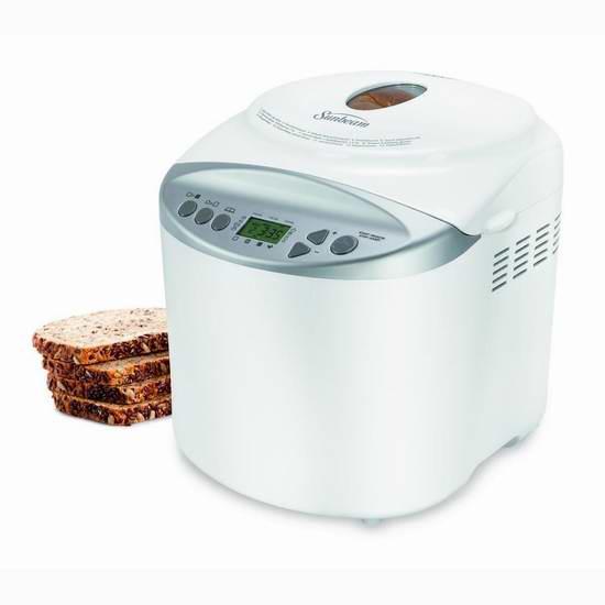 近史低价!Sunbeam CKSBBR9050-033 可编程2磅面包机 59.99加元包邮!