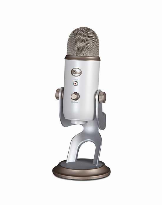 节礼周大促:历史新低!Blue Microphones Yeti 雪人复古白 USB 电容麦克风5.6折99.99元限时特卖!