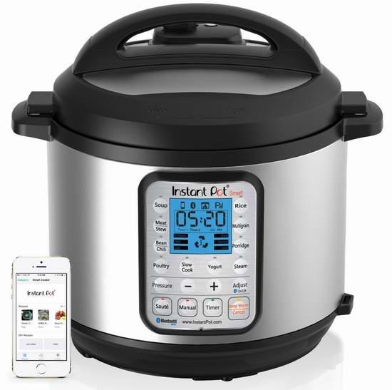 Instant Pot IP-Smart Smart-60 豪华无线蓝牙全自动14合一多功能电压力锅 151.95加元包邮!