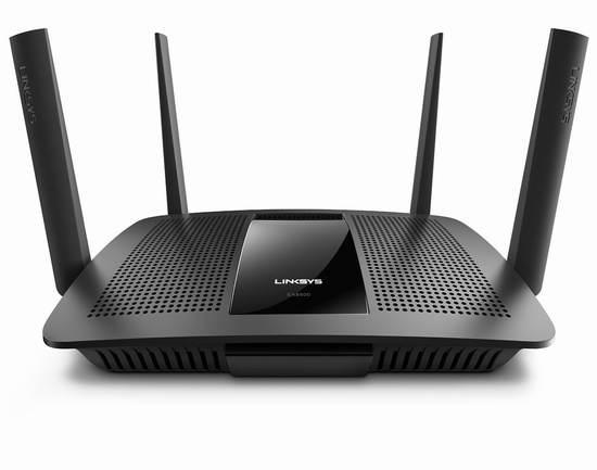 历史新低!Linksys EA8500 Max-Stream AC2600 MU-MIMO 智能无线路由器