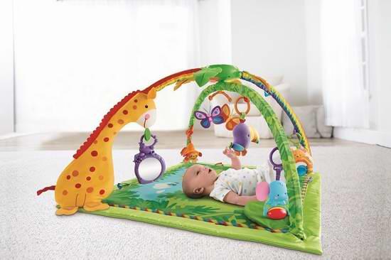 历史新低!Fisher-Price 费雪 Rainforest 热带雨林主题婴幼儿健身游戏垫 49.99元,原价 99.99元,包邮