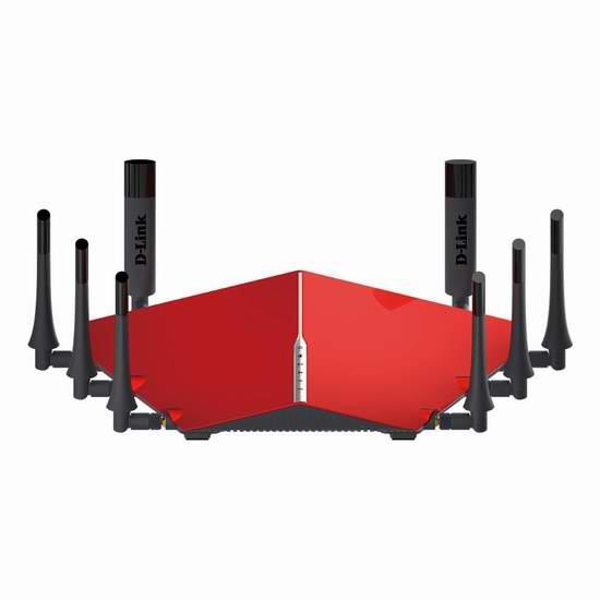 历史新低!D-Link 友讯 AC5300 DIR-895L/R 顶级家用智能路由器6.5折 349.99元限时特卖并包邮!