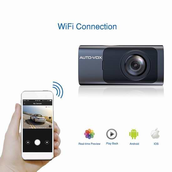 历史新低!AUTO-VOX D7 WiFi 1080P全高清超大广角超级夜视GPS行车记录仪 75加元限量特卖并包邮!