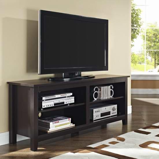 历史最低价!Walker Edison Furniture Wood 电视柜3.6折 119.25元限时特卖并包邮!两色可选!