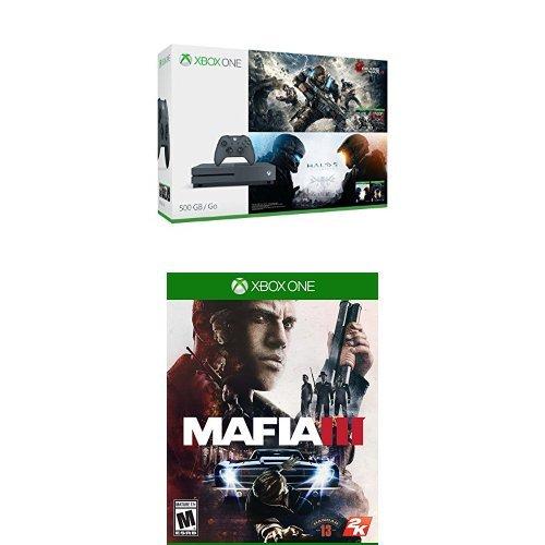 节礼周大促:历史新低!Xbox One S 500GB 家庭娱乐游戏机+Gears and Halo(4个游戏)+《黑手党III》套装 329.99元限时特卖并包邮!