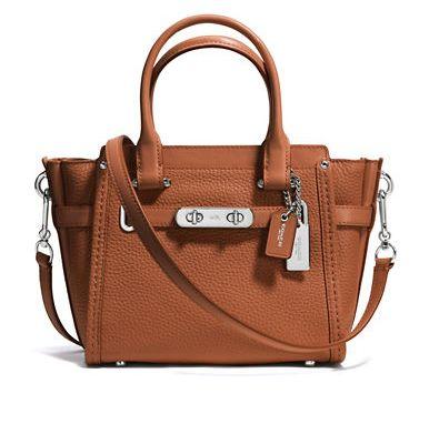 COACH Swagger 21 女士时尚手提包/斜挎包 4.9折 200.89加元限时特卖并包邮!