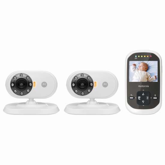 历史新低!Motorola MBP25 双摄像头 可夜视 无线婴儿监护器4.9折 124.99元限时特卖并包邮!
