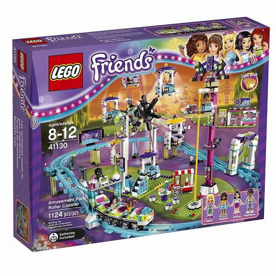 LEGO 乐高 41130 好朋友系列 游乐场大型过山车积木套装(1124pcs) 97.99加元限时特卖并包邮!