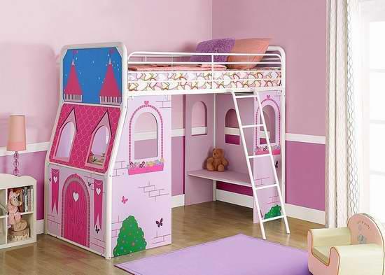 大幅降价!历史新低!DHP Imagination Castle 梦幻粉红公主城堡twin床5.3折 209.99加元限时特卖并包邮!