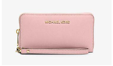Michael Kors Jet Set 女士时尚真皮钱包/腕包/手拿包 74.25元限时特卖并包邮!