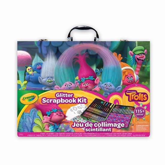 历史新低!Crayola Glitter Scrapbook 绘画工具套装(115pcs)6折 22.97元限时特卖!