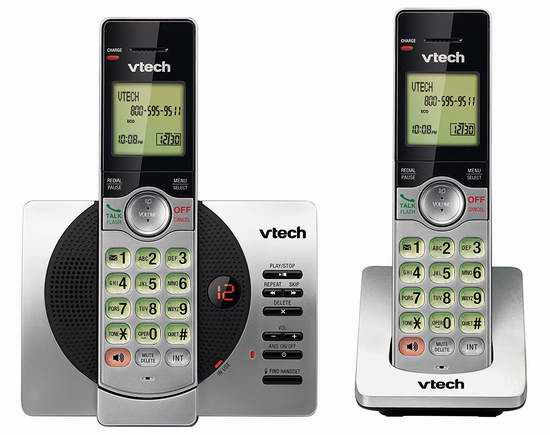 历史最低价!VTech 伟易达 DECT 6.0 CS6929-2 无绳电话系统 39.99元限时特卖并包邮!