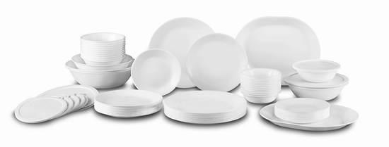 历史最低价!Corelle 康宁 Livingware 12人 纯白餐具72件套4.7折 159.99加元包邮!