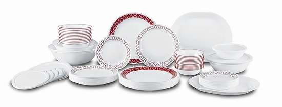 售价大降!历史新低!Corelle 康宁 Livingware 12人餐具72件套 160元限时特卖并包邮!
