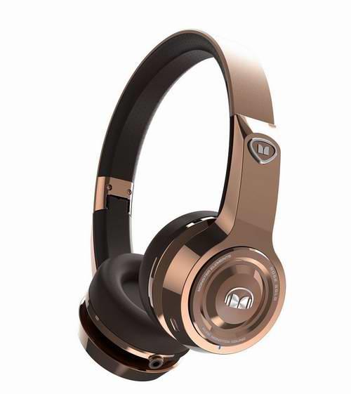 新品降价!历史新低!Monster 魔声 Elements 玫瑰金 蓝牙无线头戴式耳机 179.99加元限时特卖并包邮!