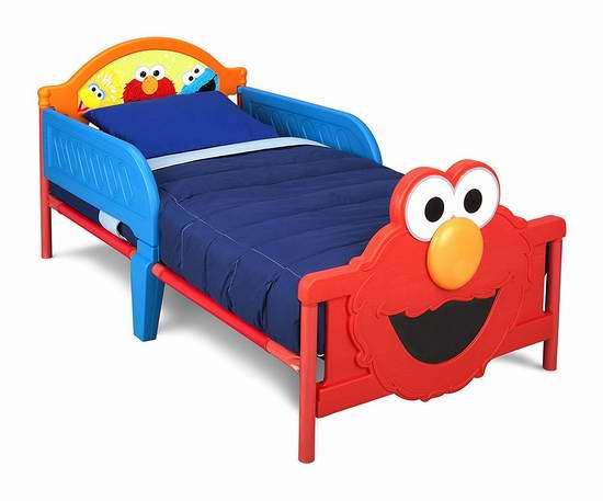 历史新低!Delta Children 迪士尼3D卡通儿童床 64.99元限时特卖并包邮!3色可选!