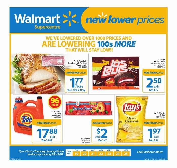 Walmart超市本周(2017.1.19-2017.1.25)打折海报