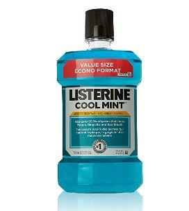 Listerine 清凉薄荷漱口水 6.59加元特卖(1.5升)!