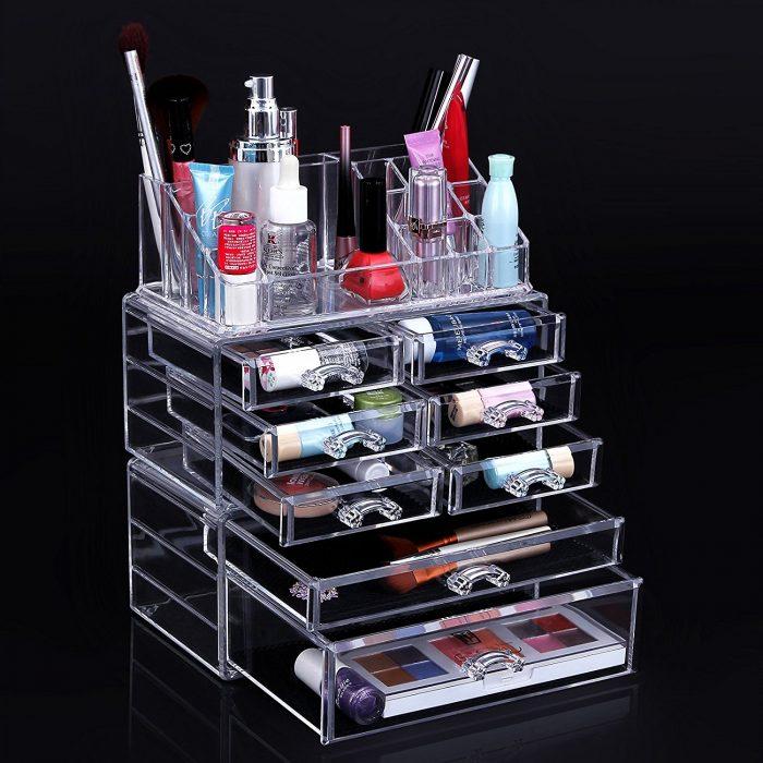 SONGMICS透明化妆品首饰收纳盒 39.99加元特卖!