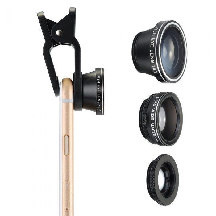 抛弃单反,让手机拍出专业效果!VicTsing广角、鱼眼、微距三合一通用手机镜头 11.16元限量特卖,原价 14.99元
