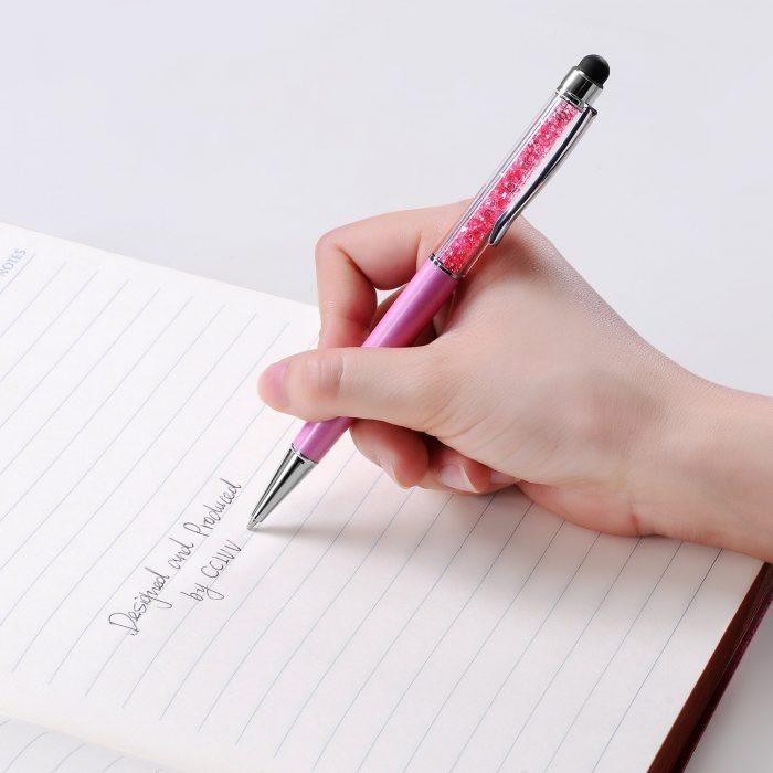 SEGMOI 2合1水晶触控笔/圆珠笔 9.59元限量特卖(6支),原价 11.99元
