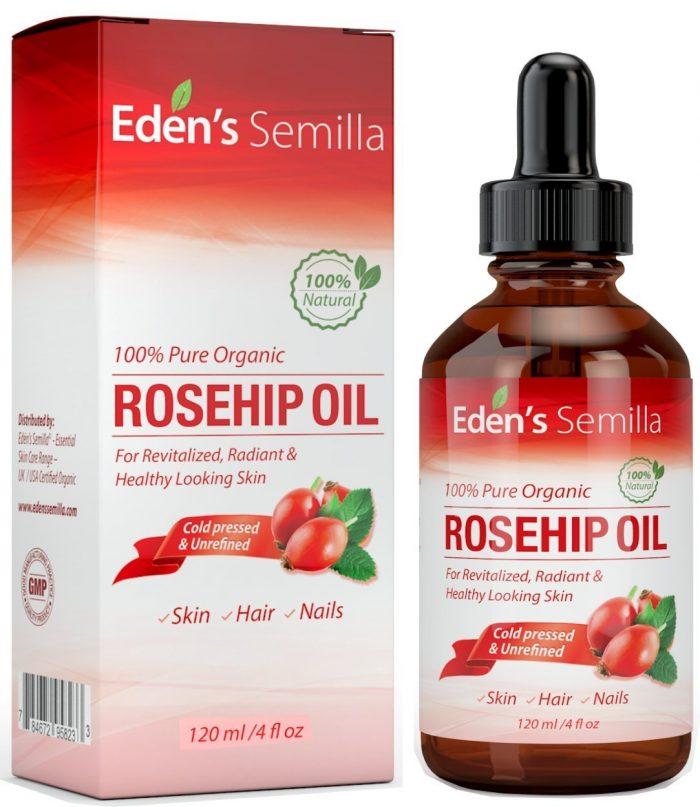Eden's Semilla 100%冷压萃取有机玫瑰果油 21.95元特卖!