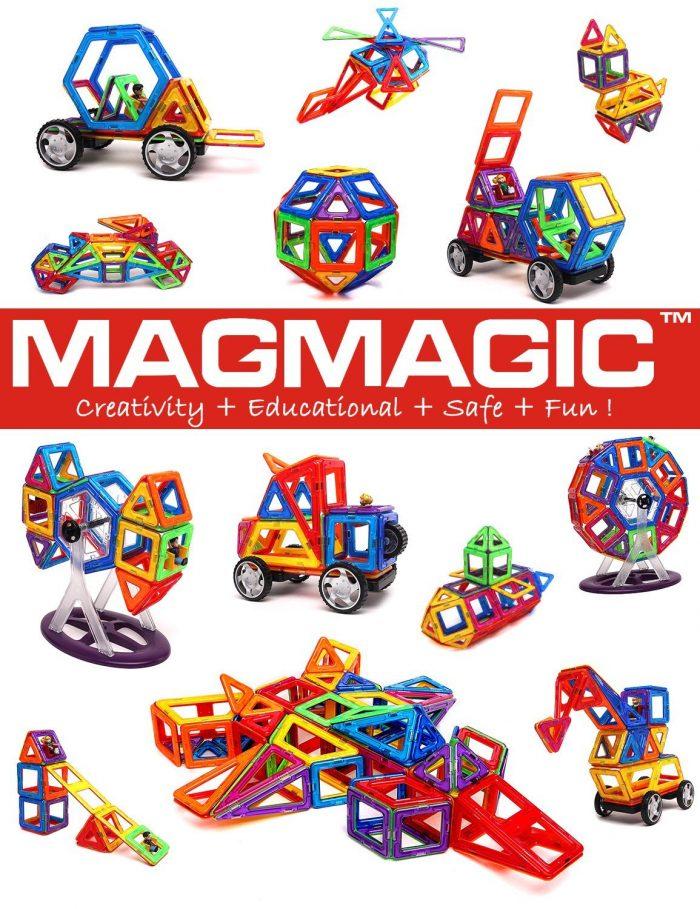 益智玩具!Magmagic磁力积木玩具 21.75加元限量特卖(15件),原价 45加元