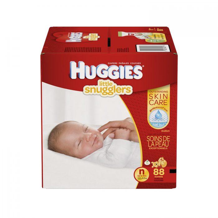 Huggies 新生儿纸尿裤 21.82加元(88片),原价 29.99加元,会员价 18.38加元