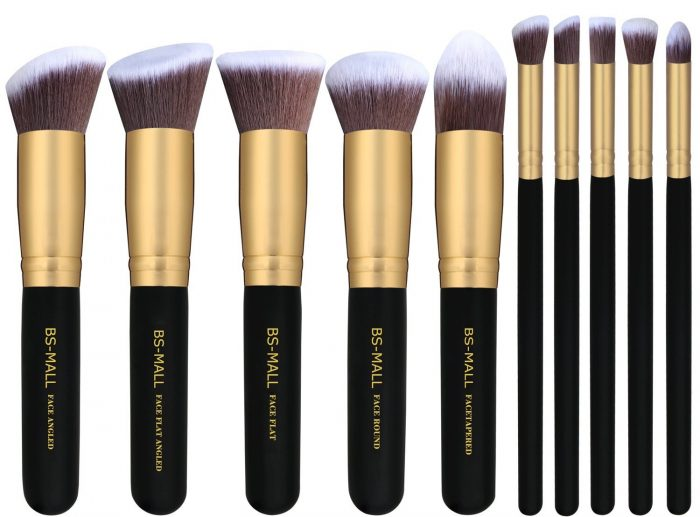 高分评价!同类产品销量第一!BS-MALL高级化妆刷套装 19.99加元特卖(10件套)!