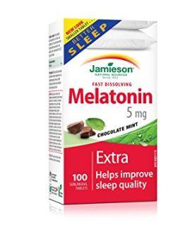 滋补调养 改善睡眠!Jamieson 健美生 Melatonin 褪黑素速效片5毫克 x 100片 7.79加元限时特卖!