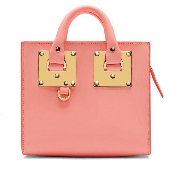 Sophie Hulme粉色方形包 571元,原价 840元,包邮