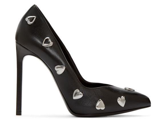 Saint Laurent 圣罗兰闪亮心形高跟鞋 635元(36码),原价 1295元,包邮
