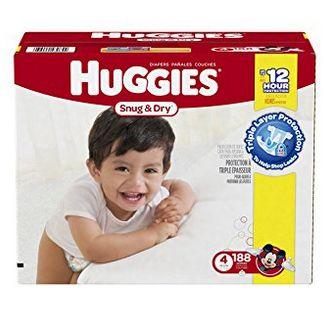 Huggies 好奇纸尿裤经济超值装 33.52加元(1-6号、136-264片),原价 60.99加元