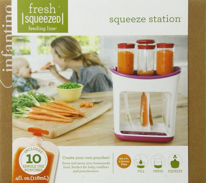 DIY自制!Infantino便携式真空新鲜蔬菜泥袋 24.97加元,原价 32加元