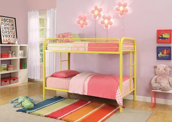 历史新低!ACME Furniture 02188 Thomas Twin 双层床5.6折 193.7元限时特卖并包邮!6色可选!