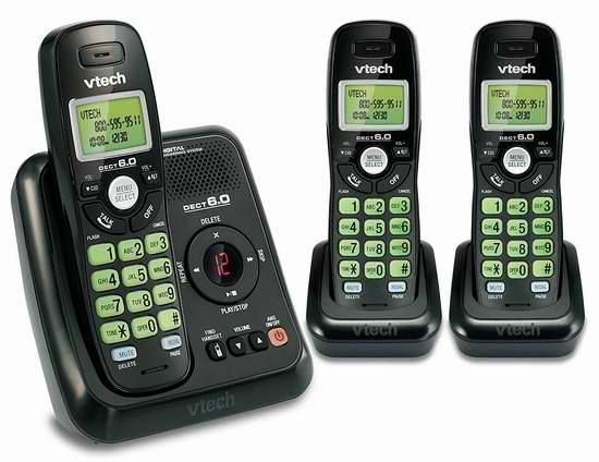 历史新低!VTech 伟易达 DECT 6.0 CS6124-31 无绳电话系统 38.49元限时特卖并包邮!