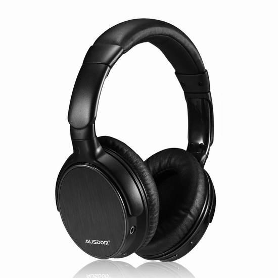 Ausdom M06 超长待机无线蓝牙3D环绕头戴式耳机 37.99加元限量特卖并包邮!