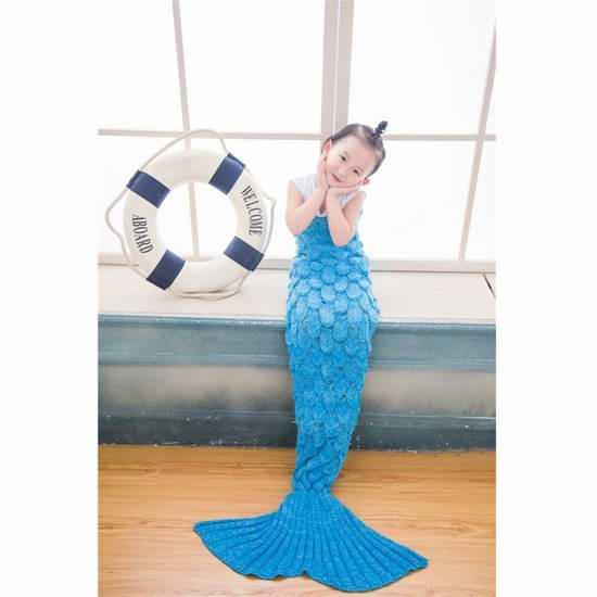Becoler 超保暖柔软儿童美人鱼睡袋 22.39-23.99元限量特卖!3色可选!