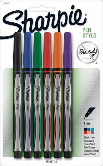 Sharpie 1751690 6色超细标记笔 8.38元限时特卖!